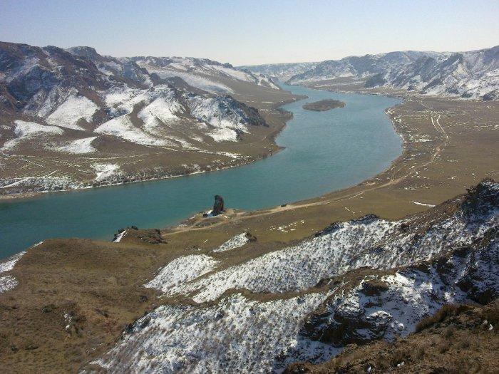 Казахстан река Или (чертов палец)