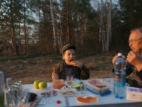 Тетерев, Мошково, Весна 2014, первый выезд младшего сына....