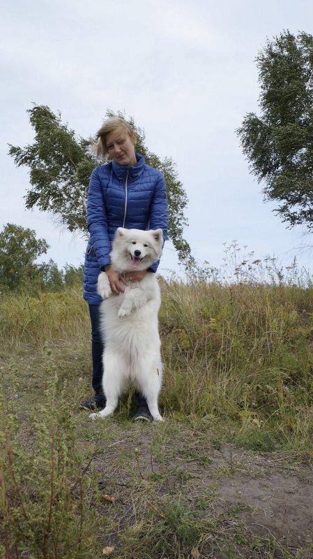 С белым медведем))))