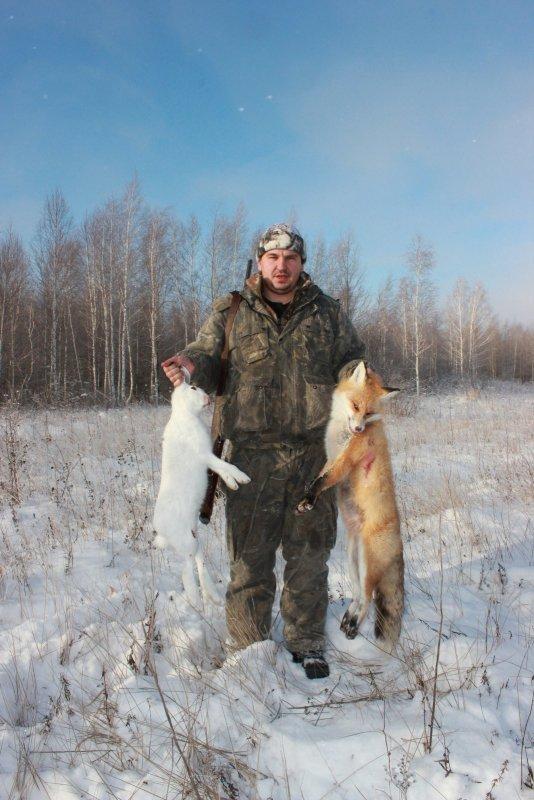 с открытия охоты на зайца и лису...