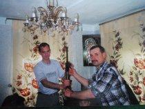Старые фото. 2001 год. Дарю ружье сыну ТОЗ-34 штучное.