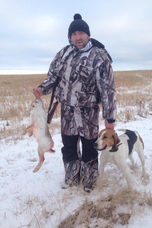 Охота на зайца с гончяком