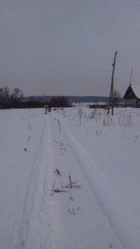 в пути на охоту
