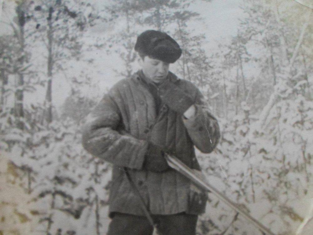 Старое фото.16 лет с первым ружьем!