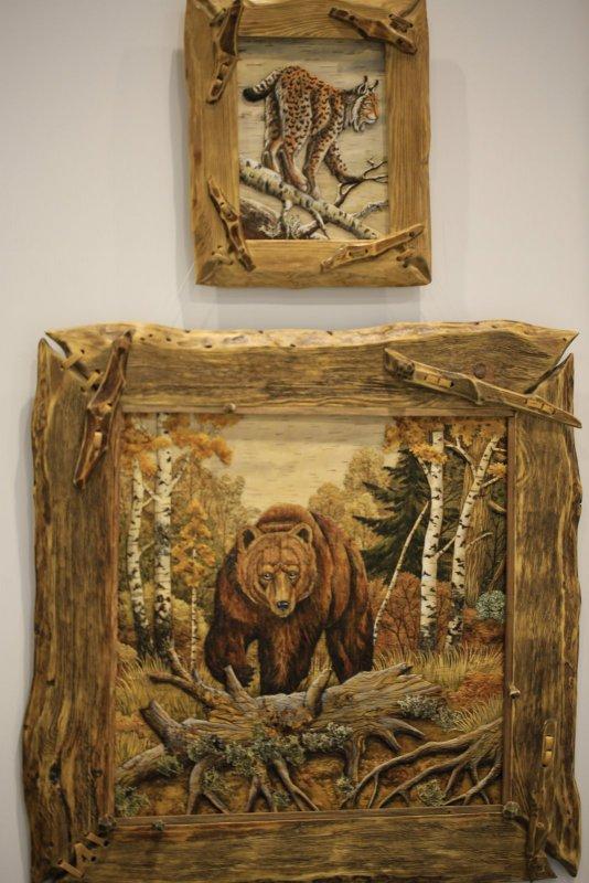 Рысь и Миша в осеннем лесу