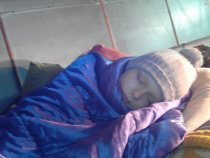 утомился после охоты....