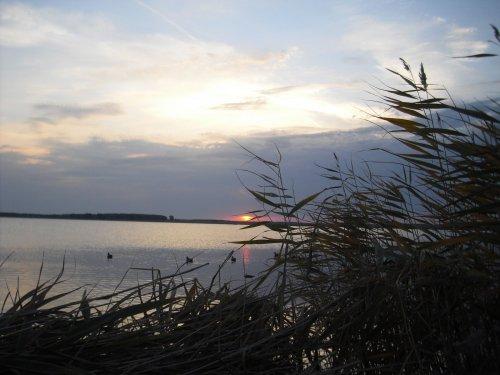 Солнце только еще умывается зарей,а трофей уже на глади озерной!
