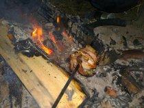 Грудки рябчика на углях