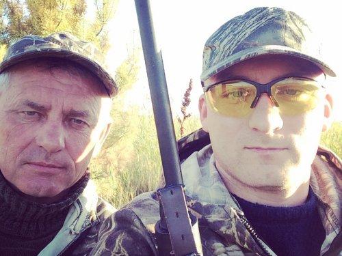 С отцом на охоте