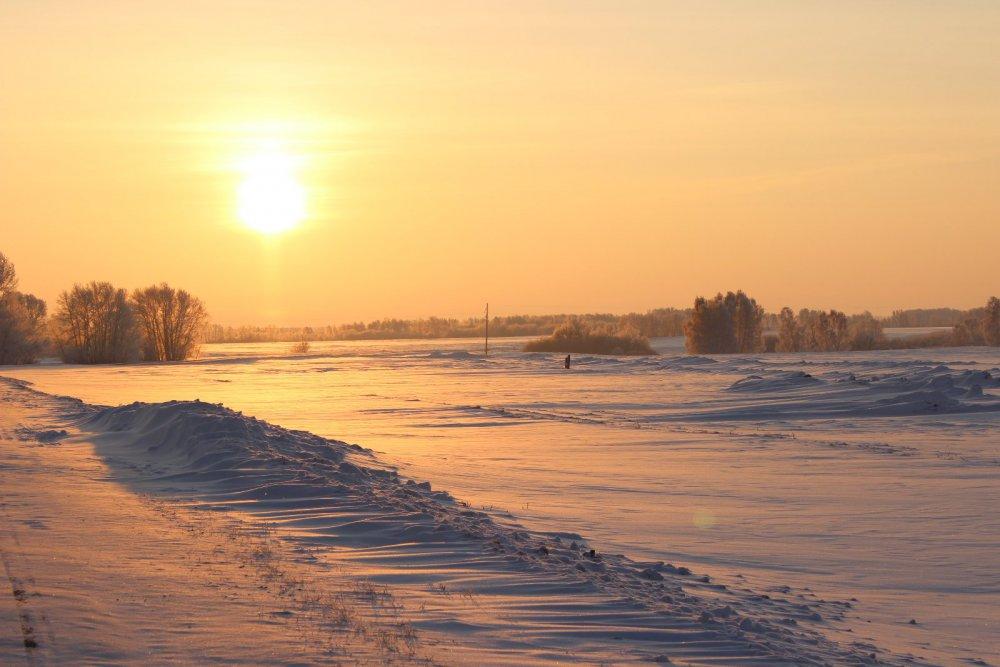 Утро на охоте в начале нового 2015 года.