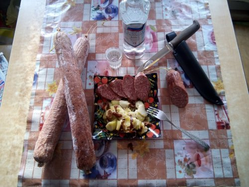Колбаса из Лосяша (варёно-копчёная)