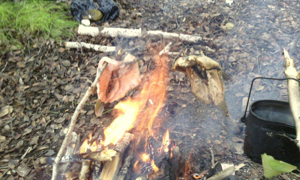 Щучка на огне-вкуснотень!