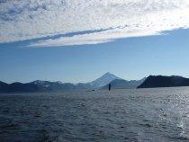 Вид на Вилючинский вулкан с Тихого океана