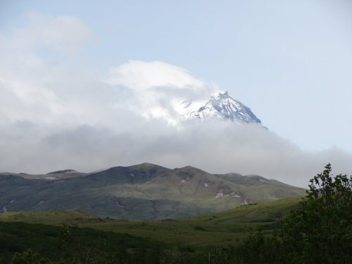 вулкан Камень Ключевская группа вулканов Камчатка июнь 2016