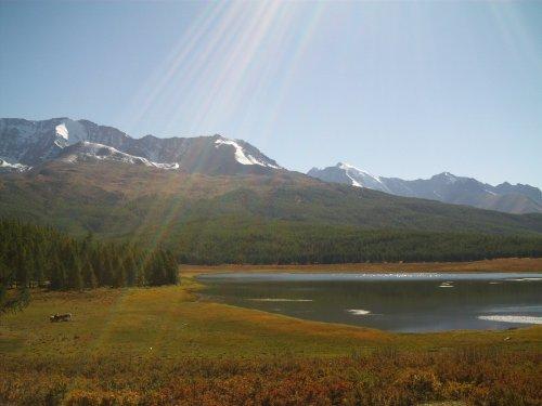 Алтай. Озеро в горах.