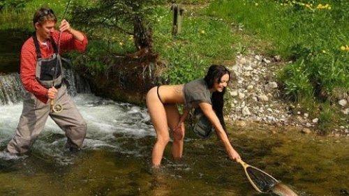Прикольные моменты на рыбалке