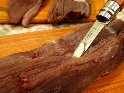 Вяленое мясо лося