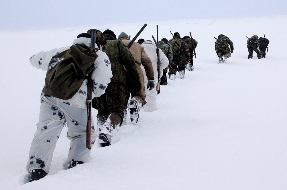 Охотники.   фото Дм. Уткина