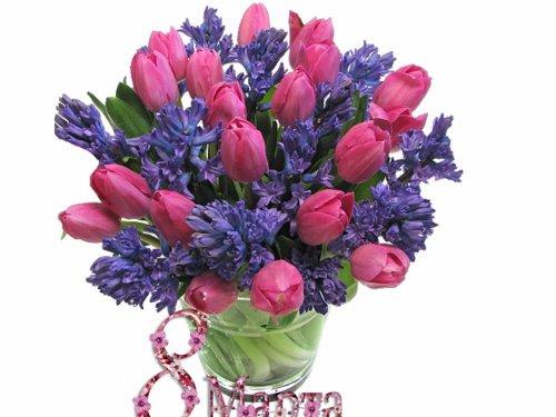 Дорогие наши мамы, бабушки, жены, сестры, дочки и подруги, с 8 марта вас!
