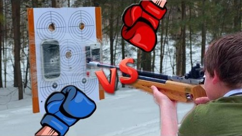 Nokia C7 и Nokia 3250 против Пневматической винтовки