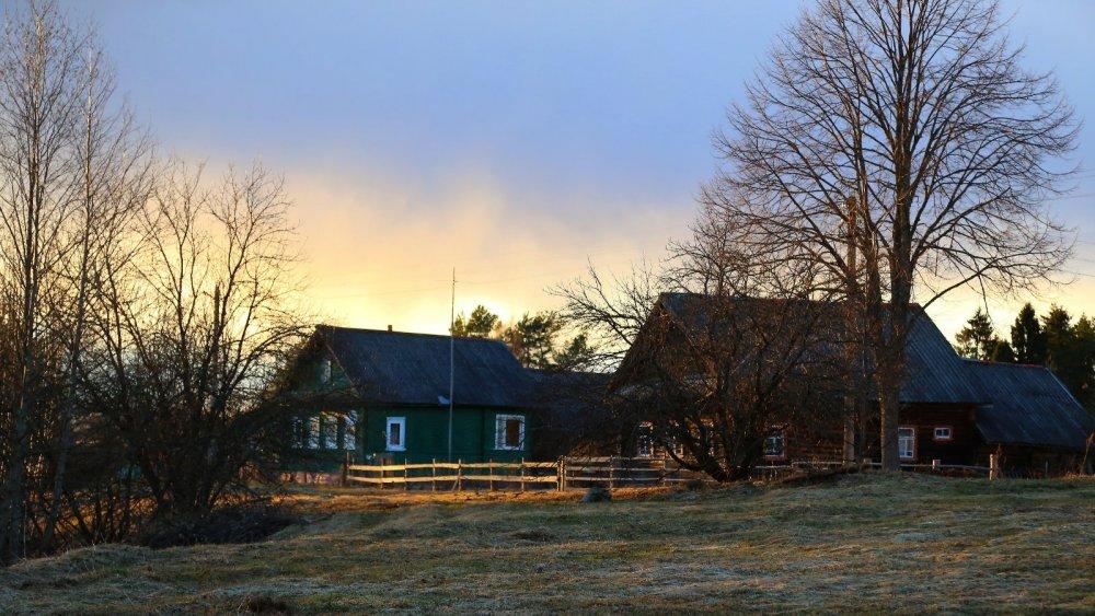 Закат в деревне, Новгородская область