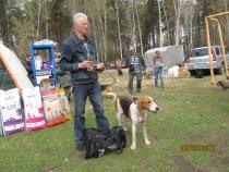 45 Новосибирска обл.выставка собак охотничьей породы.ПЛАКСА-ЧЕМПИОН ВЫСТАВКИ!!!