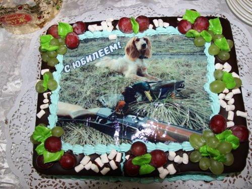 Подарочный тортик от супруги к юбилею