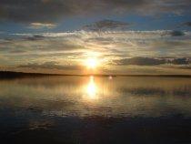 Закат на Енисее Туруханский район