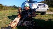 Охота на перепёлку с легавой собакой бретонский эпоньоль . Сочи 20 сентября 2017 г.(1)