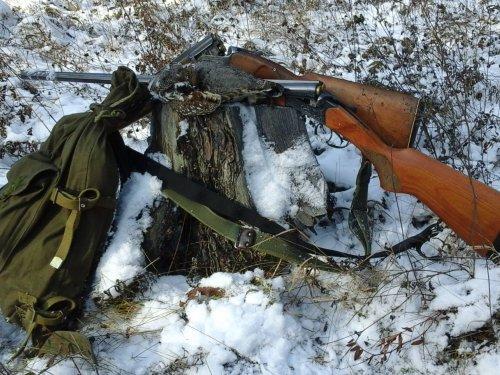 Рюкзак, рябчик, два ствола ;-)