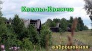 Заброшенная деревня Козлы-Коничи. Улица домов.