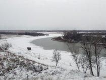 Река Оя смешивается с Енисеем