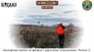Шикарная охота на фазана с русскими спаниелями. Часть 1