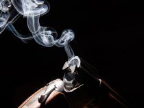 Иж-27 (20 кал.) Дым из ствола.