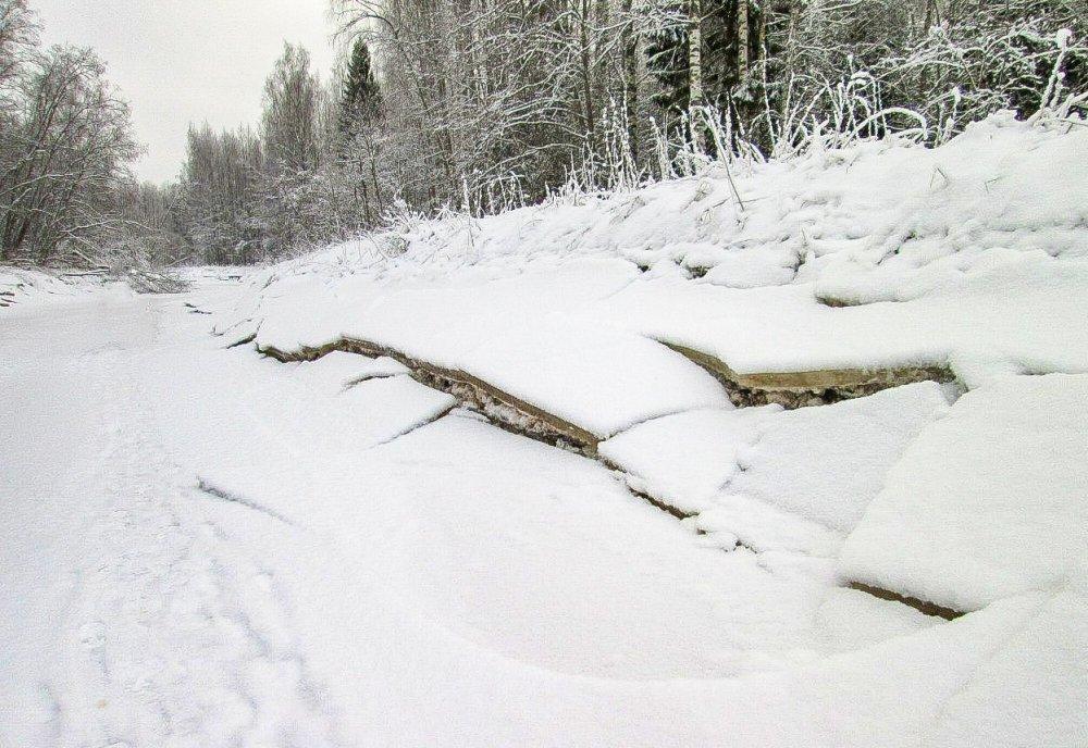 Зимняя речка Мошня.