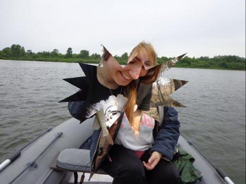 На рыбалке.
