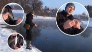 Мормышинг на реке Вонючке. Отчет о зимней рыбалке на открытой воде