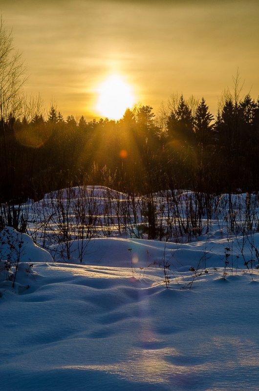 Морозный вечер.
