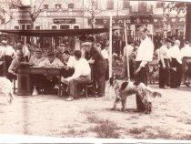Выставка охотничьих собак Томска, набережная реки Ушайки. 1955 год.