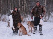 На охоте с  молодым поколением