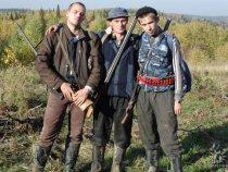 В начале карьеры охотника с друзьями.
