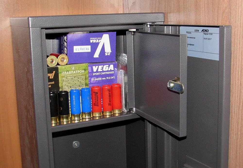 Граждане, храните патроны в металлических сейфах