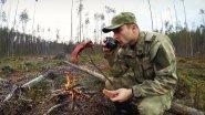 Охота на рябчика осенью в незнакомом лесу. Поход в тайгу. Разведение костра.