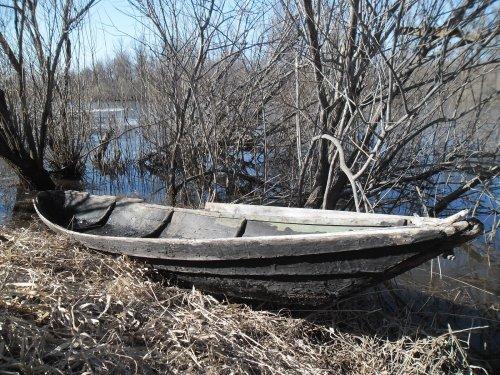 Деревянная? лодка - испытание...