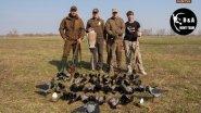 Охота на серую ворону с чучелами и филином 2018.Crow hunting in Ukraine.