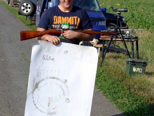 Мосяня,пять выстрелов,1220 метров,диоптр истребитель.