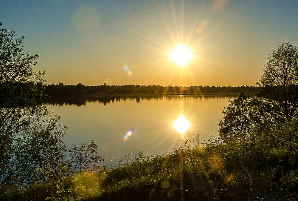 Вечер на озере.