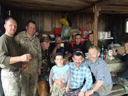 Дружный коллектив,охота на гуся 2016