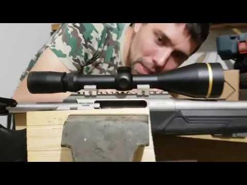 Варминт винтовка LA 102. Установка прицела Leupold. Сошки ATLAS. Быстросьемные антабки.