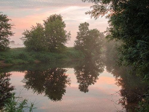 Утро на речке.